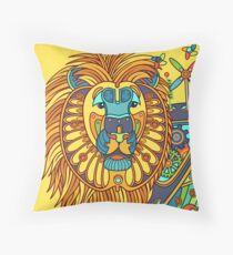 Lion, from the AlphaPod collection Throw Pillow