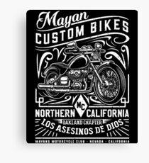Mayan Custom Bikes Canvas Print