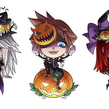 Kingdom Hearts Halloween Stickers by Roksva