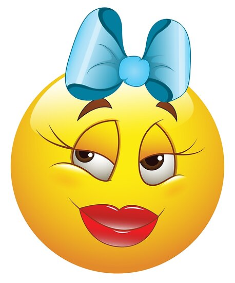 Cute Female Smiley Face Emoticon Poster by