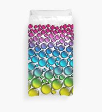 colored drops Duvet Cover