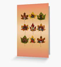 "Autumn ""tapas"" Greeting Card"