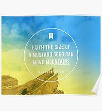 Matthew 17:20 Poster