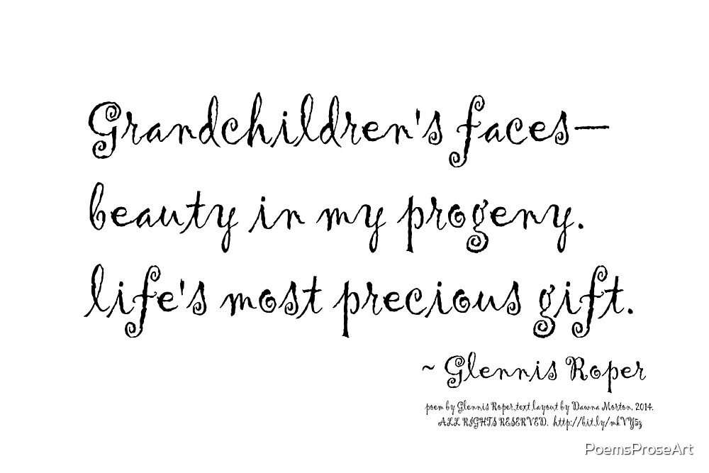 Grandchildren's faces haiku by PoemsProseArt