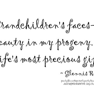 Grandchildren's faces haiku by PoemsProseArt