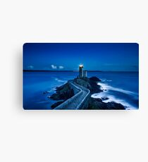 Lighthouse In The Sea Canvas Print