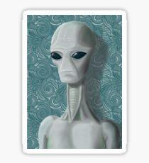 Alien Portrait Sticker