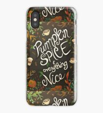 Pumpkin Spice iPhone Case
