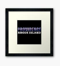 Providence, Rhode Island Skyline Framed Print