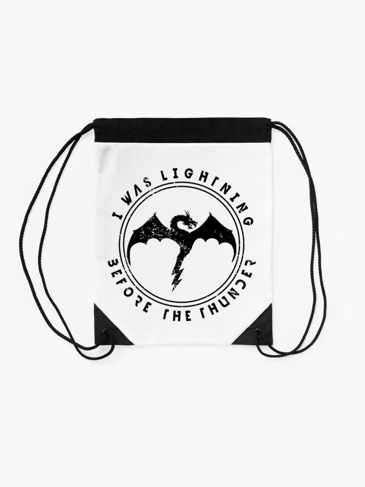 Alternate view of Imagine Dragons Thunder Drawstring Bag