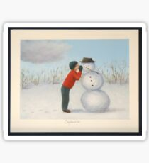 Confession to the snowman Sticker
