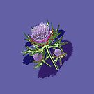 Watercolour Thistles of Scotland by jennyjeffries