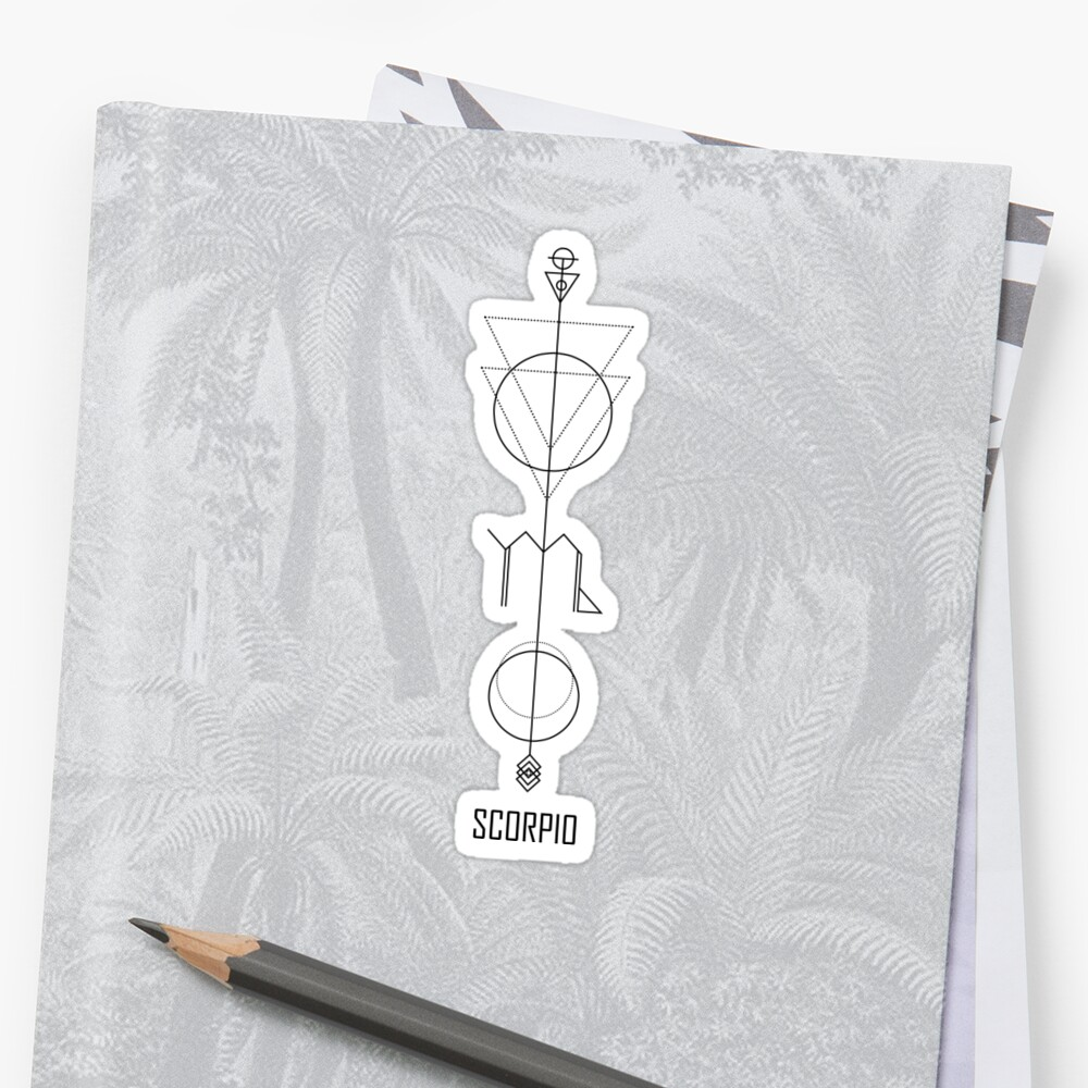 Scorpio Astrology - Zodiac Arrow Sticker