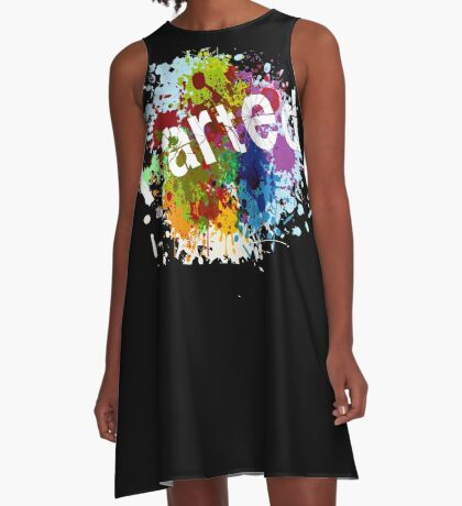 iArted Artists Paint Splash Art Print A-Line Dress