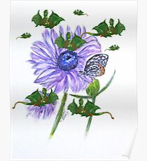 Butterflies and Strange Dragonflies Poster