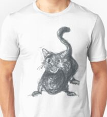 The Black Cat for Halloween T-Shirt