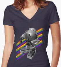 OMG ROBO Women's Fitted V-Neck T-Shirt