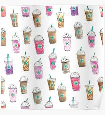 Coffee Cup Party in Marshmallow Poster