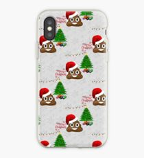 merry christmas poo emoji iphone case