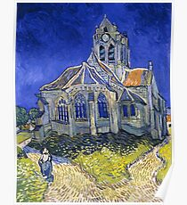 "Van Gogh ""The Church In Auvers Sur Oise"", 1890 Poster"