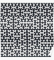 Hilbert Curve - Filled Poster