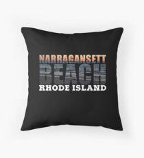Narragansett Beach, Rhode Island  Throw Pillow
