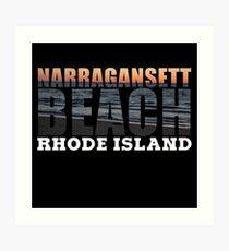 Narragansett Beach, Rhode Island  Art Print