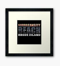 Narragansett Beach, Rhode Island  Framed Print