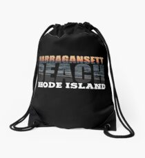 Narragansett Beach, Rhode Island  Drawstring Bag