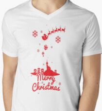 Merry christmas, a scene of a small village T-Shirt