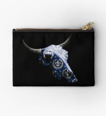 Noble Symbol on Blue Cow Skull Design v.4  Studio Pouch