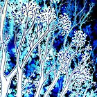 Twilight Blues - Trees by Linda Callaghan