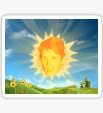 michael j fox aka the sun Sticker