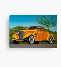 Lincoln K Convertible 1935 Painting Canvas Print