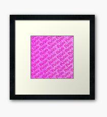 Pink Charlotte Logo On Pink Mosaic, Framed Print