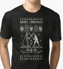 Star War Chirstmas - May the force be with you Tri-blend T-Shirt