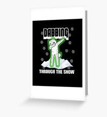 Cat Dabbing through the Snow Greeting Card