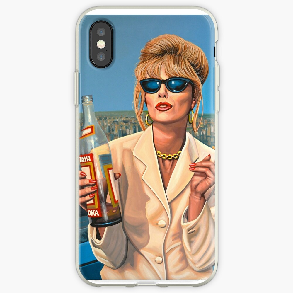 Joanna Lumley as Patsy Stone painting iPhone Cases & Covers