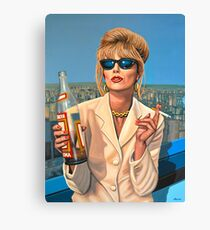 Joanna Lumley as Patsy Stone painting Canvas Print