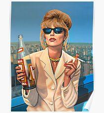 Joanna Lumley als Patsy Stone-Malerei Poster