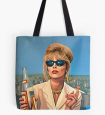 Joanna Lumley as Patsy Stone painting Tote Bag