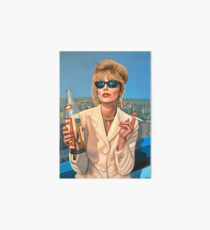 Joanna Lumley as Patsy Stone painting Art Board