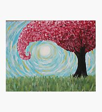 Abstract Windy Pink Tree Photographic Print