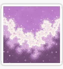 Colorblock Galaxy: Lavender Sticker