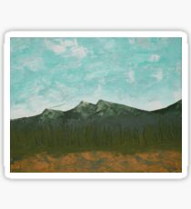 Abstract Palette Mountain Landscape Sticker