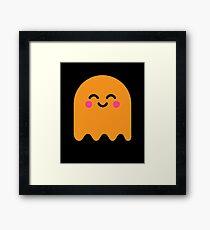Cute Ghost Orange Framed Print