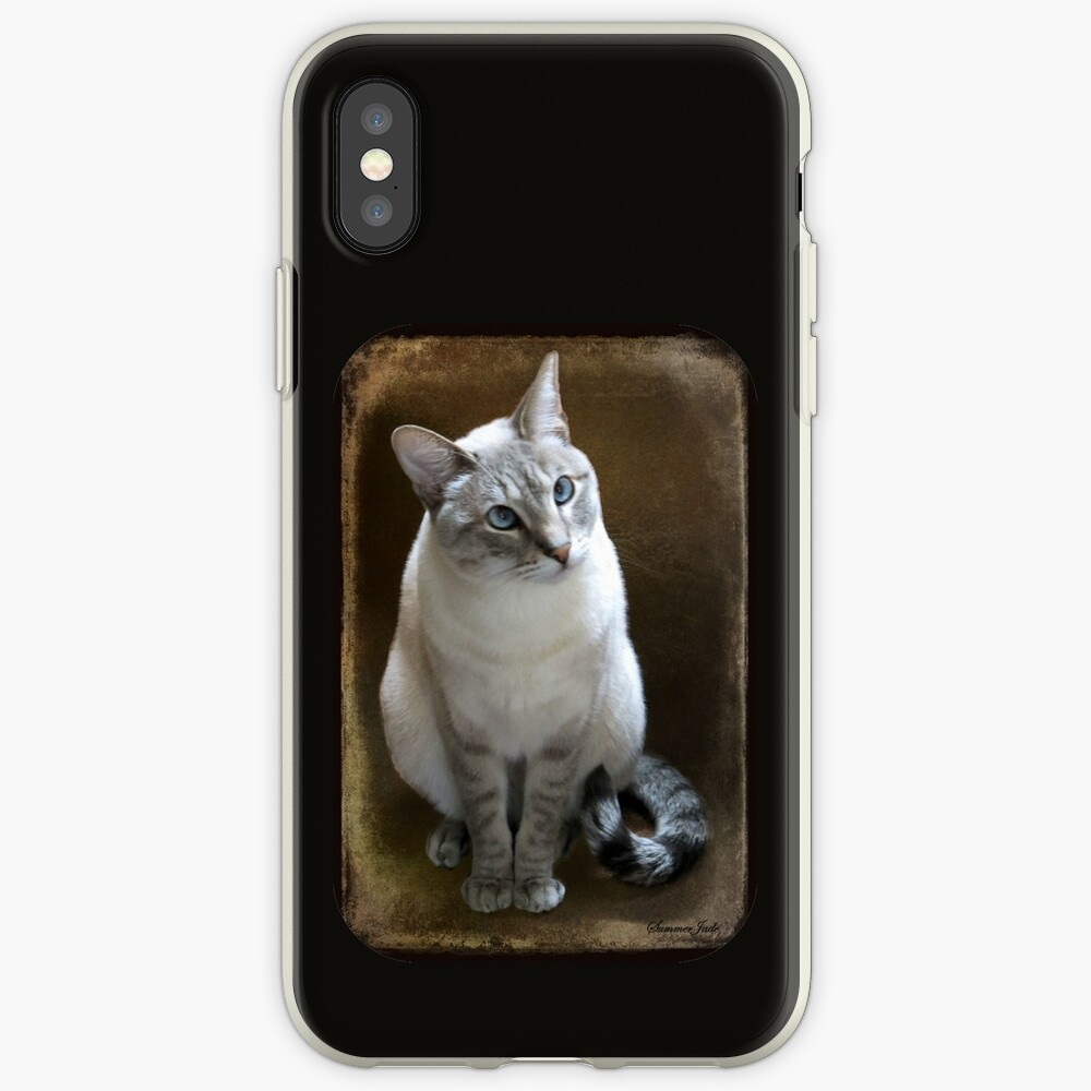 Lilac Point Siamese ~ Old Blue Eyes iPhone Case & Cover
