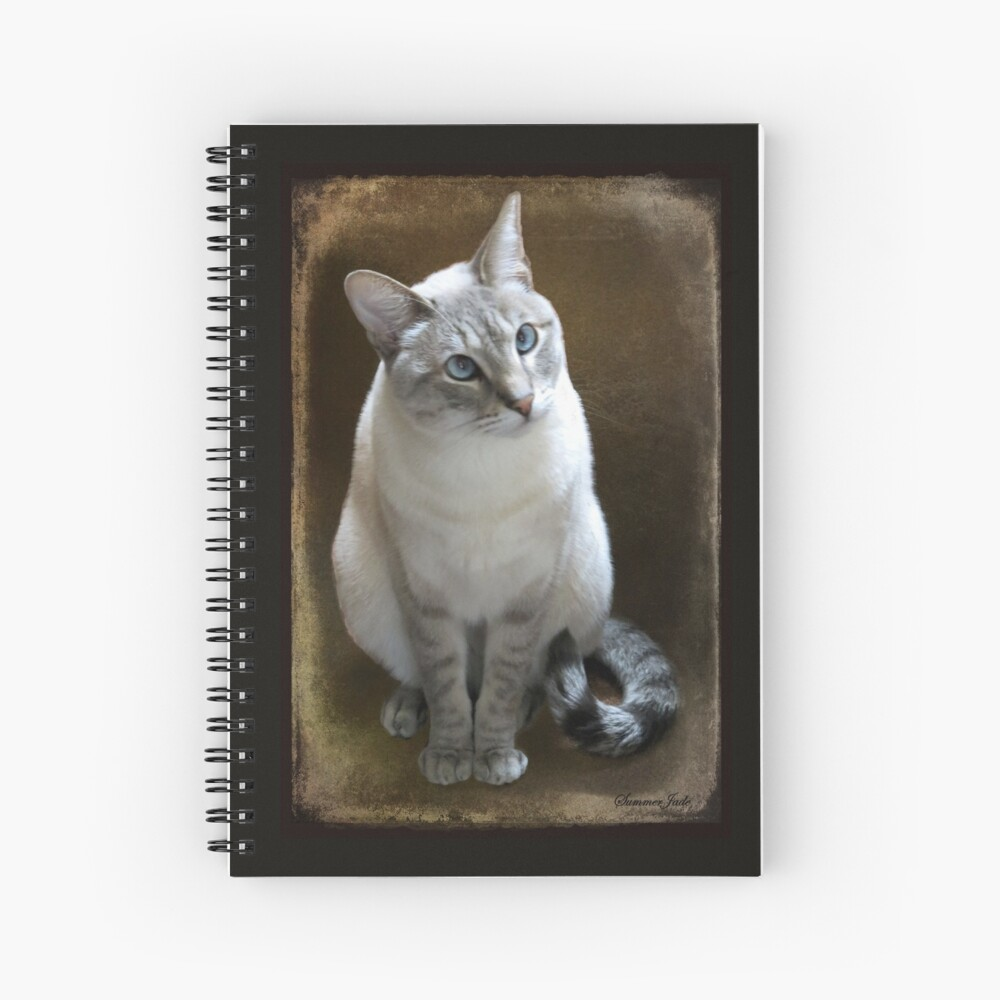 Lilac Point Siamese ~ Old Blue Eyes Spiral Notebook