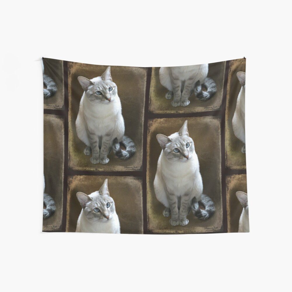 Lilac Point Siamese ~ Old Blue Eyes Wall Tapestry