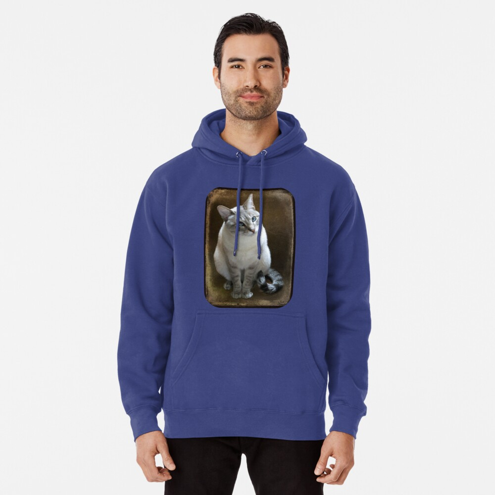 Lilac Point Siamese ~ Old Blue Eyes Pullover Hoodie